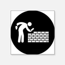 """Bricklayer-AAB1 Square Sticker 3"""" x 3"""""""