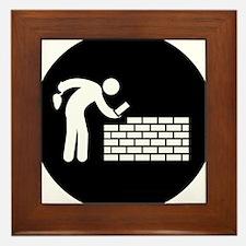 Bricklayer-AAB1 Framed Tile