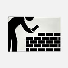Bricklayer-AAA1 Rectangle Magnet