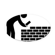 Bricklayer-AAA1 Oval Car Magnet