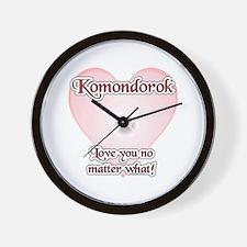Komondor Love U Wall Clock