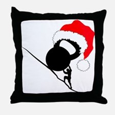 sisyphus Kettlebell Christmas Throw Pillow