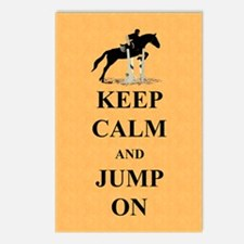 Keep Calm and Jump On Hor Postcards (Package of 8)