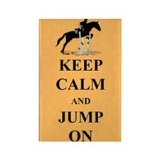 Keep Calm and Jump On Horse Rectangle Magnet