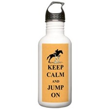 Keep Calm and Jump On  Water Bottle