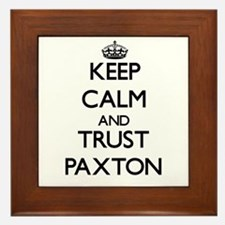 Keep Calm and TRUST Paxton Framed Tile