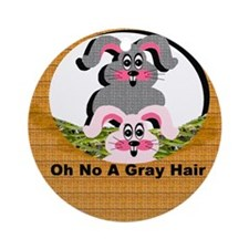 Oh No A Gray Hair - Ornament (Round)