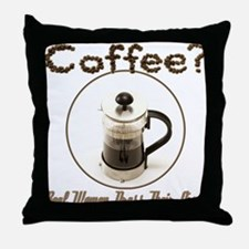 French Press Women Throw Pillow