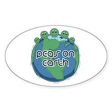 Peas (Peace) on Earth Oval Decal