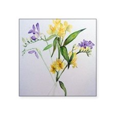 "Freesias and friends Square Sticker 3"" x 3"""