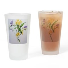 Freesias and friends Drinking Glass