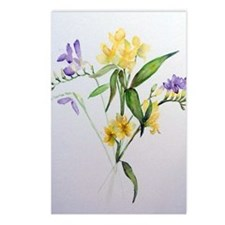 Freesias and friends Postcards (Package of 8)