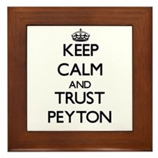 Keep Calm and TRUST Peyton Framed Tile