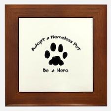 Adopt a Pet Framed Tile