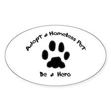 Adopt a Pet Oval Decal