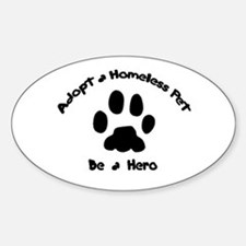 Adopt a Pet Oval Decal