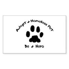 Adopt a Pet Rectangle Decal