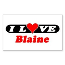 I Love Blaine Rectangle Decal