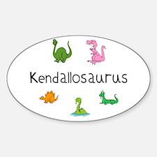 Kendallosaurus Oval Decal