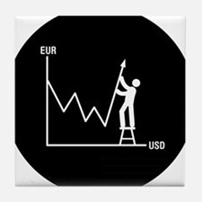 Forex-Stock-Trader-AAB1 Tile Coaster