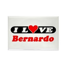 I Love Bernardo Rectangle Magnet