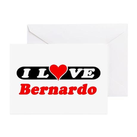 I Love Bernardo Greeting Cards (Pk of 10)