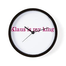 Klaus is my king Wall Clock