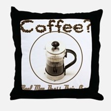 French Press Men Throw Pillow