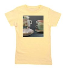 Two stacks of pastel teacups Girl's Tee