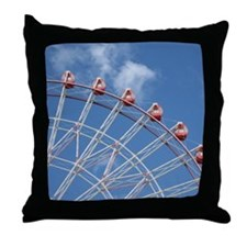 Ferris Wheel with blue sky Throw Pillow