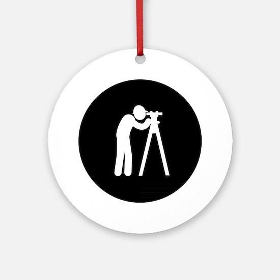 Land-Surveyor-AAB1 Round Ornament