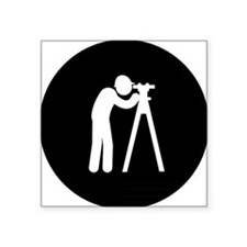 "Land-Surveyor-AAB1 Square Sticker 3"" x 3"""