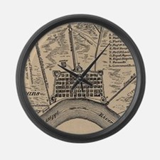 Vintage Map of New Orleans Louisi Large Wall Clock
