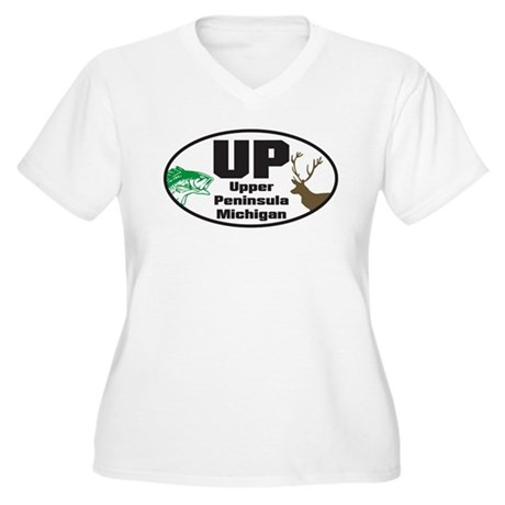 Upper Peninsula Women's Plus Size V-Neck T-Shirt