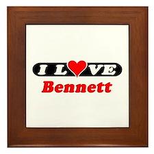 I Love Bennett Framed Tile