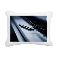 Tuning fork on piano key Rectangular Canvas Pillow