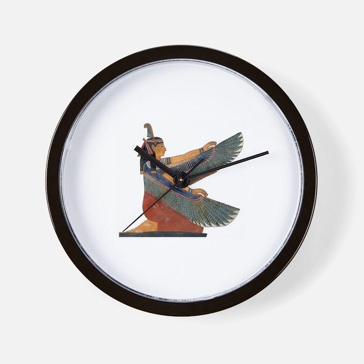 Goddess Maat Wall Clock