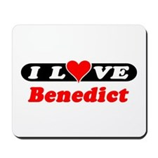 I Love Benedict Mousepad
