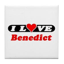 I Love Benedict Tile Coaster
