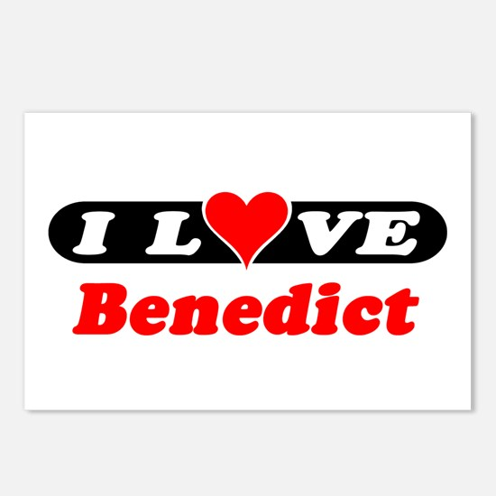 I Love Benedict Postcards (Package of 8)