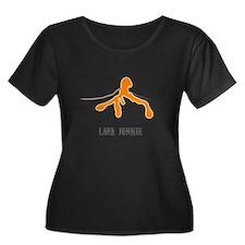 Lava Junkie Women's Plus Size Scoop Neck T-Shirt