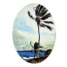 Winslow Homer - Palm Tree, Nassau, H Oval Ornament