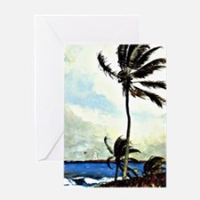 Winslow Homer - Palm Tree, Nassau, H Greeting Card