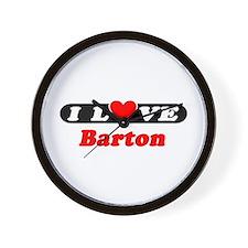 I Love Barton Wall Clock