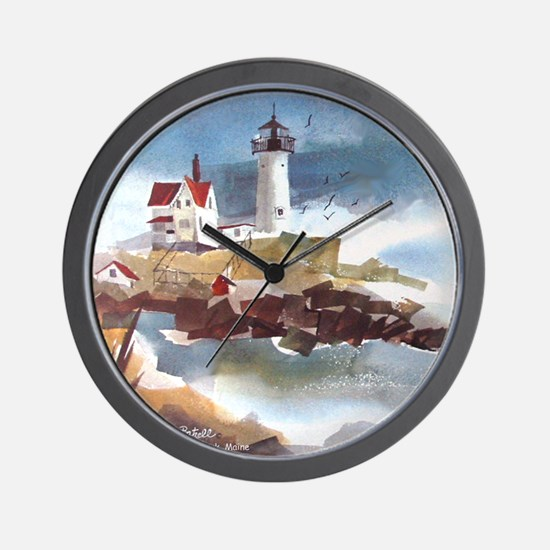 Nubble Light House Wall Clock