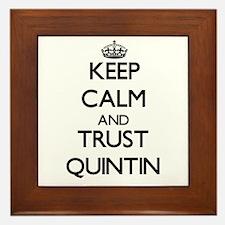 Keep Calm and TRUST Quintin Framed Tile