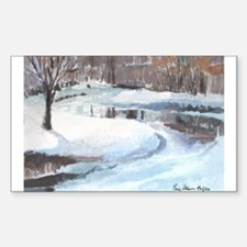Snowy Road by Elsie Batzell Rectangle Decal