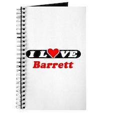 I Love Barrett Journal