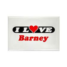 I Love Barney Rectangle Magnet