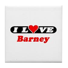I Love Barney Tile Coaster